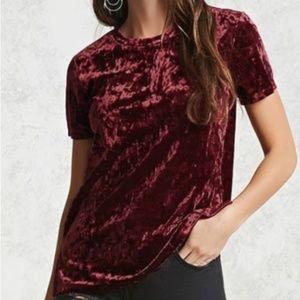 Wine/Red/Maroon Velvet Shirt